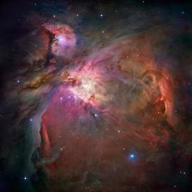 Der Orionnebel ist ein Emissionsnebel. Bild: NASA/ESA