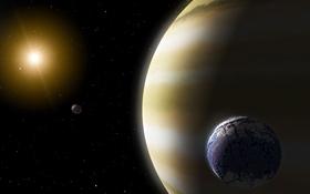 Diese Illustration macht deutlich, wie riesig Gas-Planeten sein können. Bild: NASA, JPL, Caltech