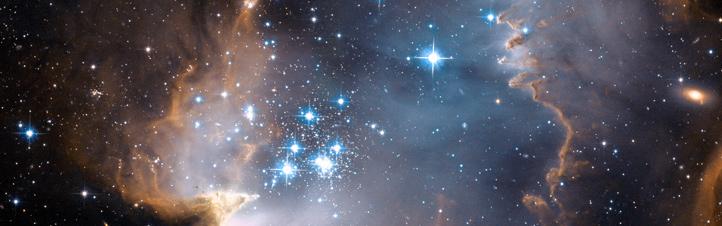 Das Universum: scheinbar unendliche Weiten. Hier eine unserer Nachbar-Galaxien, die Kleine Magellansche Wolke.Bild: NASA, ESA, STScI