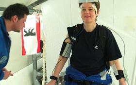 Vor seinem Einsatz auf der Internationalen Raumstation ISS wurde der neue Sensor getestet. Bild: DLR