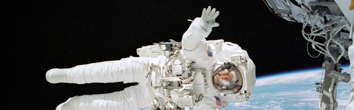 Ein Astronaut beim Spacewalk.Bild: NASA