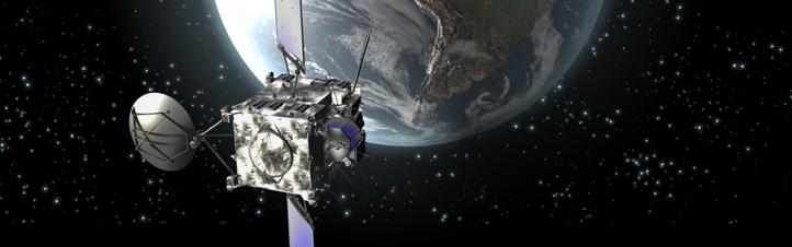 Die Rosetta-Sonde fliegt an der Erde vorbei. Aus unbekannten Gründen weicht die Geschwindigkeit solcher Sonden ein wenig von den Berechnungen ab. Bild: ESA (C. Carreau)