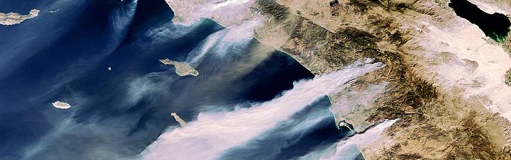 Waldbrände in Kalifornien. Bild: ESA