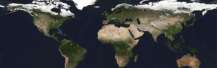 """In unserem interaktiven Globus kann man mit jedem Klick den """"Blauen Planeten"""