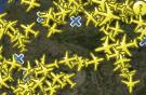 Per Satellit werden Daten aller Flugzeuge übermittelt, die sich weltweit in der Luft befinden. Bild: Flightradar24.com
