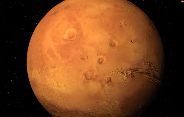 "Im ""Tiefflug"" über den Mars"
