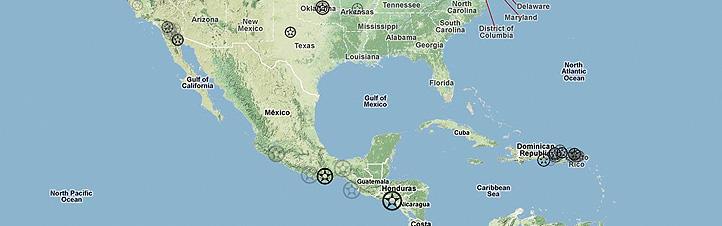 Auf dieser Karte sieht man wo in diesen Minuten die Erde bebt. Bild: 2011 Google Maps, Jörn Clausen