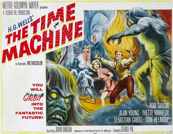 """Filmplakat zu """"Die Zeitmaschine"""" – einem Film nach dem Roman von H.G. Wells - Quelle: Wikipedia"""