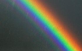 Ein Regenbogen: Durch die Art und Weise, wie die Regentropfen das Sonnenlicht reflektieren, wird es in seine Bestandteile zerlegt. So sieht man die einzelnen Farben, aus denen sich das weiße Licht zusammensetzt. Bild: K.-A.