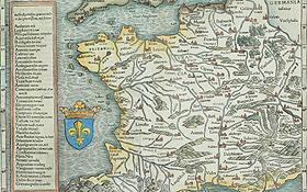 Die Landkarten wurden im Laufe der Zeit immer genauer. Das Bild zeigt eine alte Karte von Frankreich. Bild: Photos.com