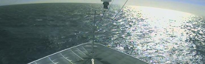 Das weite Meer – eine schöne Aufnahme übertragen von einer Webcam, die sich auf einem der zahlreichen Kreuzfahrtschiffe befindet.