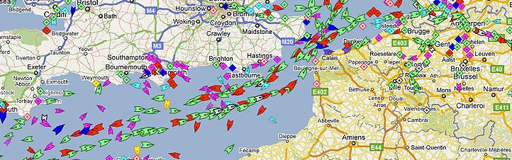 Welches Schiff befindet sich gerade an welchem Ort auf der Welt? Auf der Live-Schiffskarte kannst du das ganz schnell nachschauen. Bild: MarineTraffic.com