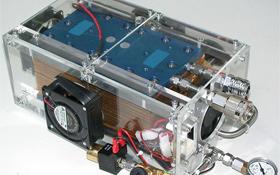 Brennstoffzellen wie hier im Bild sollen die E-Autos mit sauberem Strom versorgen. <BR>Bild: DLR