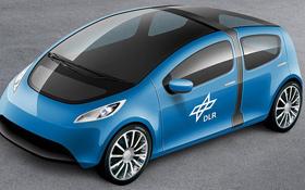 So wie in dieser Studie könnten die leichten Autos von morgen aussehen. Bild: DLR