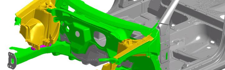 Die Autos von morgen bestehen aus einer Kombination von unterschiedlichen Materialien, damit sie leichter werden. Dabei sollen sie natürlich trotzdem Sicherheit bieten. Bild: DLR