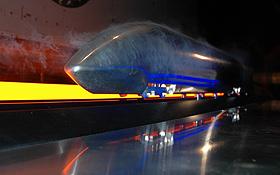 """Anschließend wird die Aerodynamik des """"NGT"""" mit einem Modell im Windkanal getestet. Bild: DLR"""