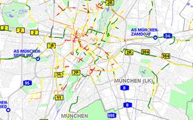 Die aktuellen Verkehrsdaten werden online zusammengefasst.  Bild: DLR