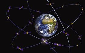 Diese künstlerische Darstellung zeigt das Galileo-System. Bild: ESA