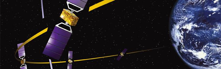Präzision aus dem Weltraum für den Verkehr auf der Erde: Das europäische Satelliten-Navigationssystem Galileo soll auf den Meter genau zeigen, wo man sich befindet. Bild: ESA
