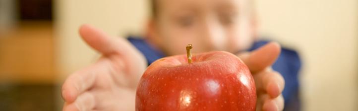 Kann man mit Obst Strom erzeugen? Mit einem einfachen Versuchsaufbau könnt ihr selbst herausfinden, ob ein Apfel eine Lampe zum Leuchten bringen kann. Bild: Photos.com
