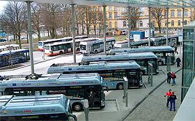 Eine ganze Flotte von umweltfreundlichen Bussen ist in Hamburg unterwegs.<BR>Bild: Hochbahn