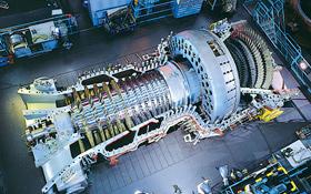Große Gasturbinen haben eine enorme Leistung von bis zu 340 Megawatt – das sind 340 Millionen Watt! Bild: Alstom
