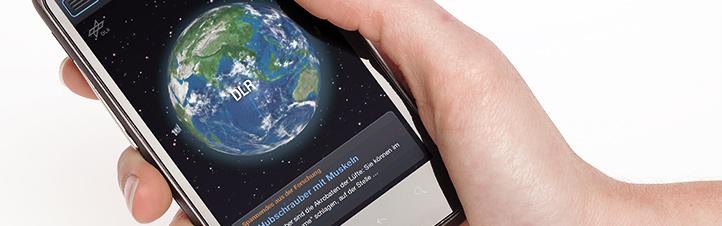 Die Welt von DLR_next mit dem Smartphone erkunden - mit der App geht das. Bild: DLR