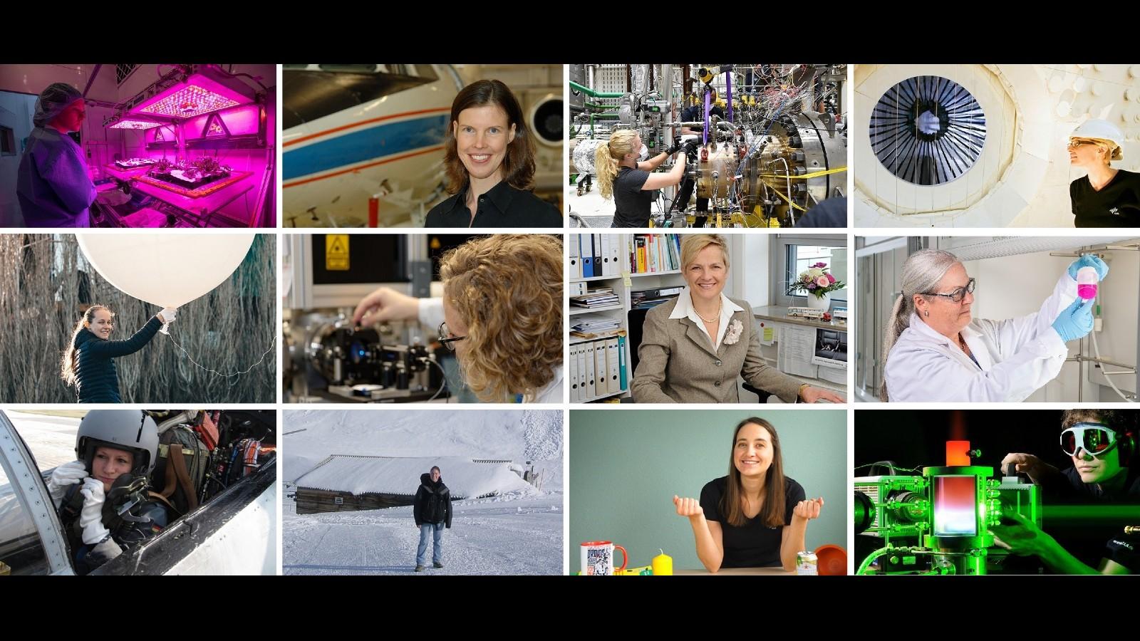 In vielen Bereichen des DLR sind Frauen tätig. Bilder: Copyright DLR (alle Rechte vorbehalten)