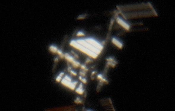 Astronomie ohne teleskop am  mondsichel zwischen venus