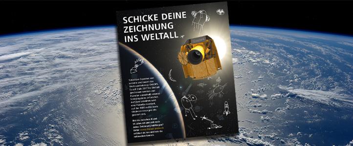 Der Satellit CHEOPS nimmt eure Bilder mit in den Weltraum! Bilder: Uni Bern, ESA.