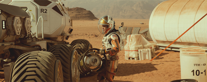 "Szene aus ""Der Marsianer"" mit Matt Damon. Bild: © 2015 Twentieth Century Fox"