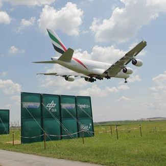 The wake vortices of the huge A380 are also weakened by the plates.