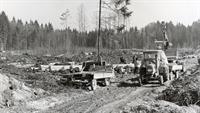 Baubeginn 1967 %2d Rodungsarbeiten in der Lichtenau