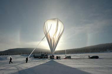 Start eines BEXUS-Ballons