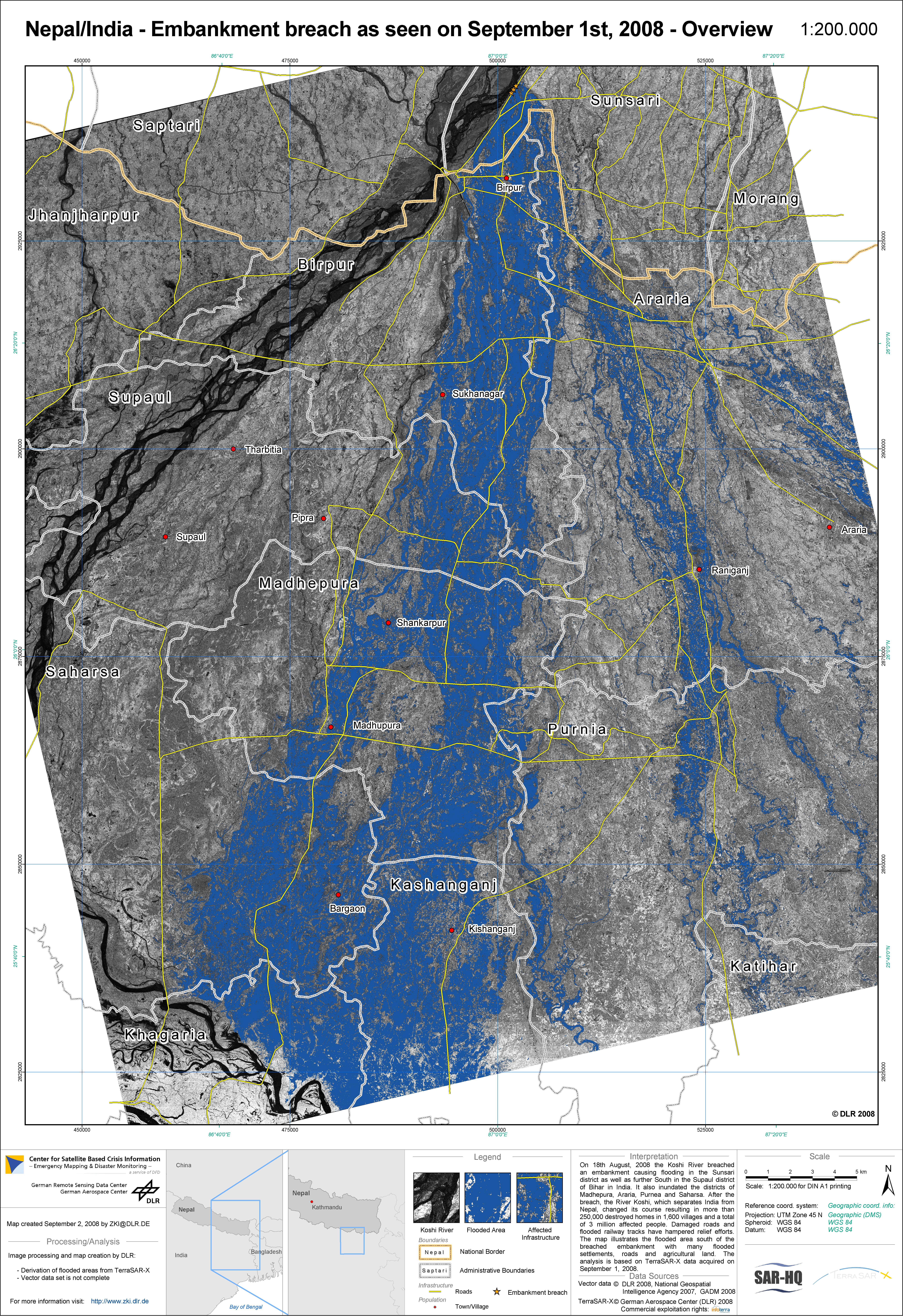 DLR - Space Administration - DLR mapping provides rapid