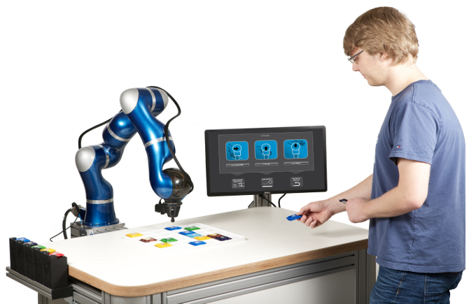 LB3 robot interacting with a human