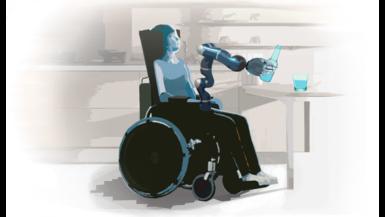 Assistenzrobotik für Menschen im Rollstuhl