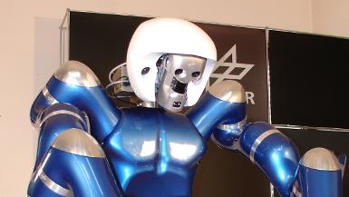 Verwendung des 3D%2dModellierers als Teil des Kopfes eines humanoiden Roboters