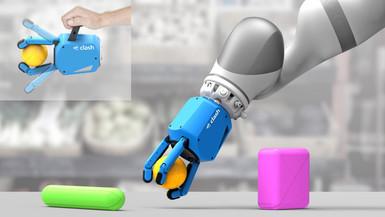 Rendering von CLASH an einem Roboter