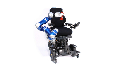 EDAN, the robotic EMG%2dcontrolled daily assistant
