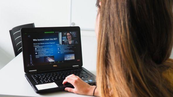 Die Videokonferenzsituation aus Sicht einer Teilnehmerin. Bild: MinTU, TU Dortmund