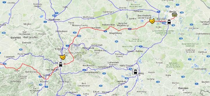 Krumme Wege für krumme Dinger. Bild: scribblemaps/DLR