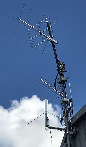 Antennenanlage auf dem DLR_School_Lab Braunschweig. Bild: © DLR, alle Rechte vorbehalten, jegliche Weiterverbreitung verboten