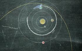 Rosetta unterwegs im Sonnensystem. Bild: DLR (CC-BY 3.0).