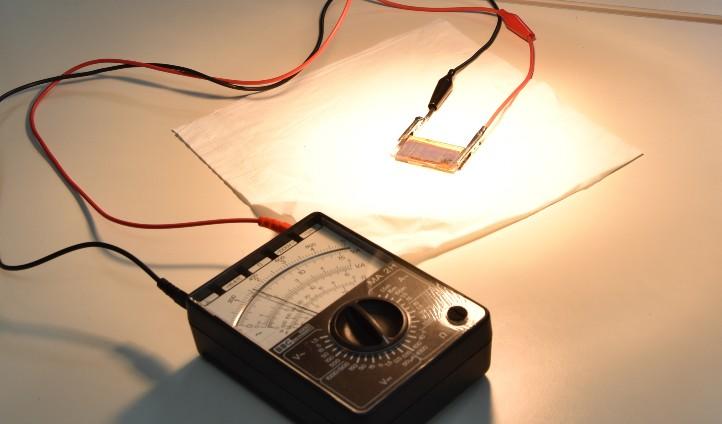 Eine Solarzelle. Bild: S. Rückheim, TU Dortmund