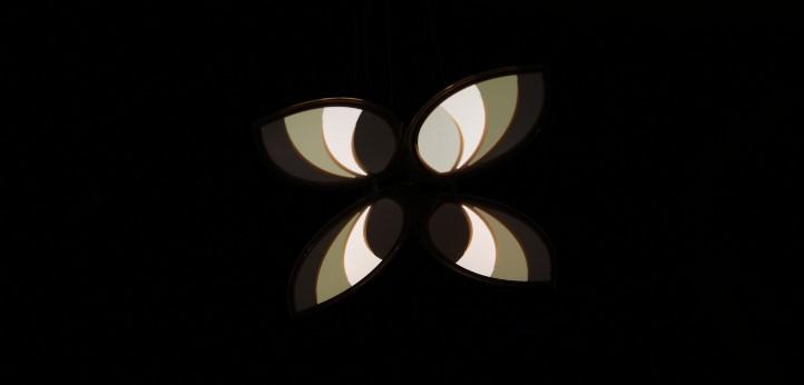 Ein OLED-Schmetterling. Bild: TU Dresden, J. Hahn