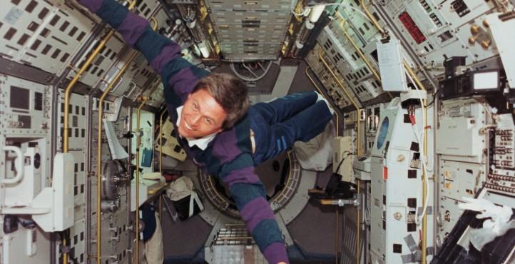 Astronaut in Schwerelosigkeit. Quelle: ESA.