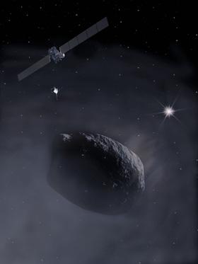 Im DLR_School_Lab Köln könnt ihr selbst Kometenmaterial herstellen und unter simulierten Weltraumbedingungen beobachten – fast wie bei der Rosetta-Mission. Bild: ESA