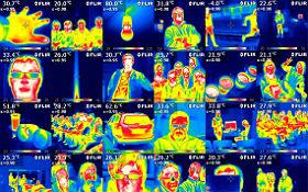 Unsichtbares sichtbar machen – im DLR_School_Lab Köln schaffen das die Schülerinnen und Schüler per Wärmebildkamera. Und sie lernen dabei auch, was das mit Infrarot-Astronomie zu tun hat. Die thematische Palette des Schülerlabors reicht darüber hinaus von der Reduzierung des Fluglärms bis zur Forschung in Schwerelosigkeit. Bild: DLR