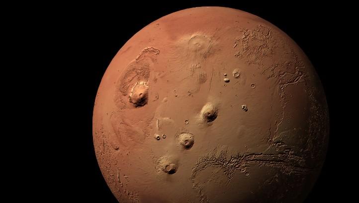 Der Planet Mars. Bild: ESA/DLR/FU Berlin, G. Neukum.
